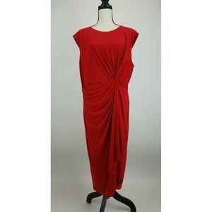 Taylor A-Line Dress Womens 20W Red  B55-15Z